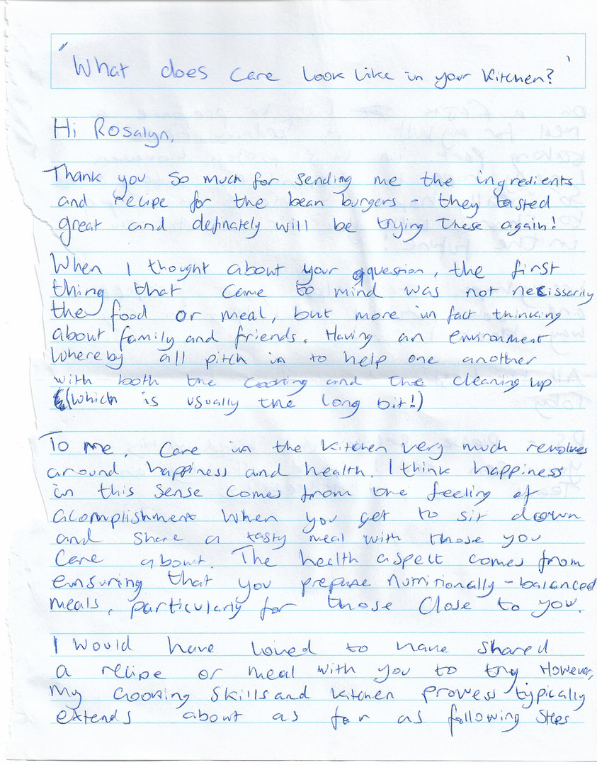 Letter sent by Toby p.1