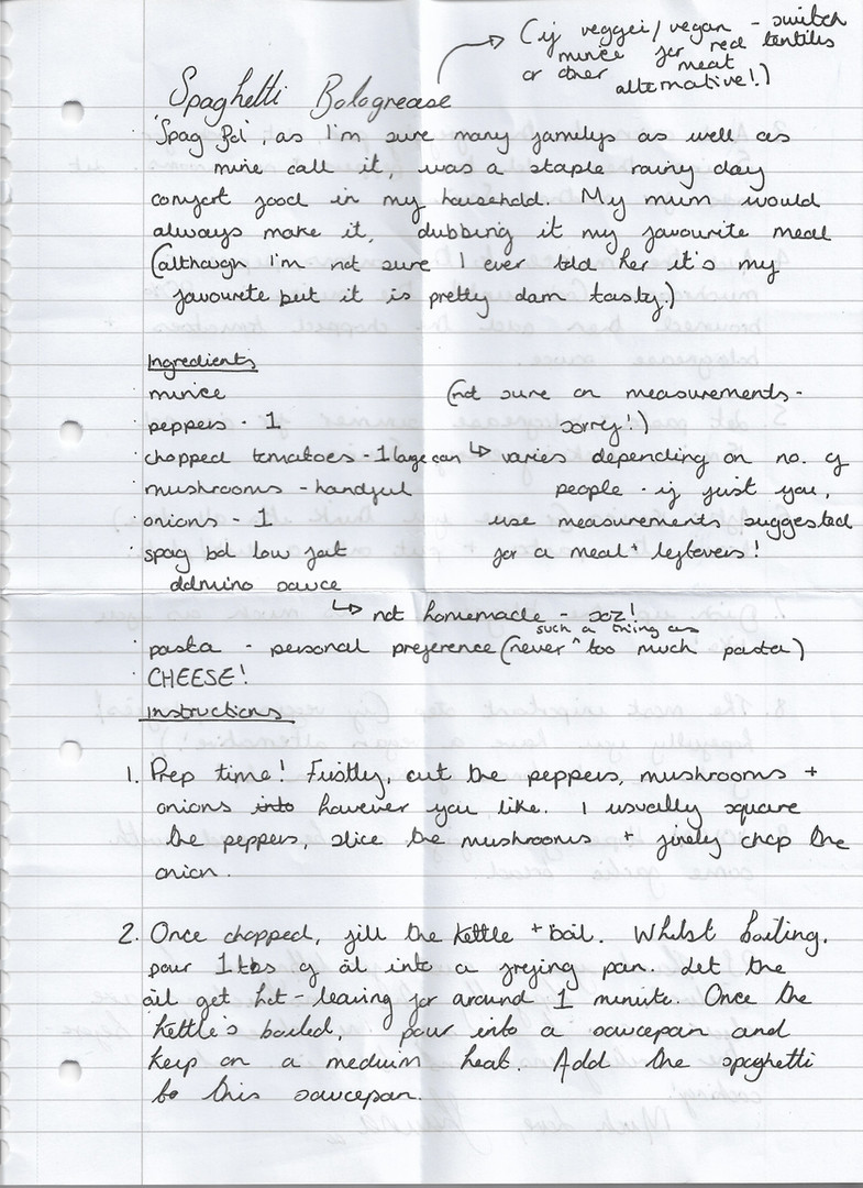 Letter sent by Shauna p.1