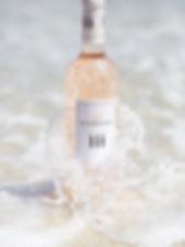 Bouteille Rosé cotes de provence plage Mas de Pampelonne
