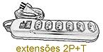 extensões 2P+T