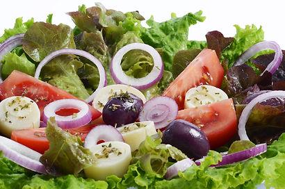 Salada com ingredientes selecionados