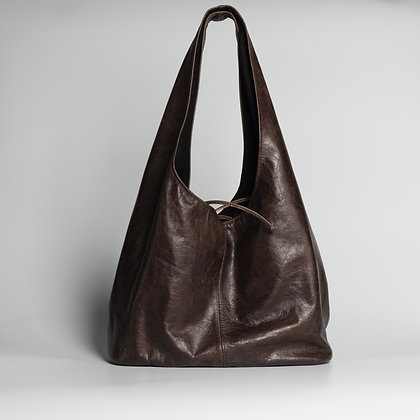 Purse Dark Brown Waterfall Shoulder