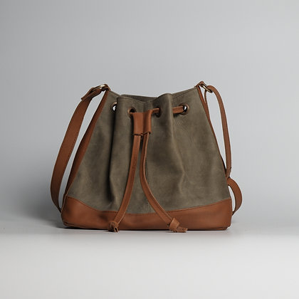 Crossbody Bag Two-toned Pull String