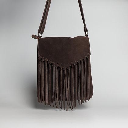 Crossbody Bag Dark Brown Bohemian