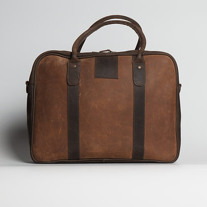 Briefcase Two-toned Brown Huge