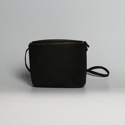 Crossbody Purse Black Leather Lining