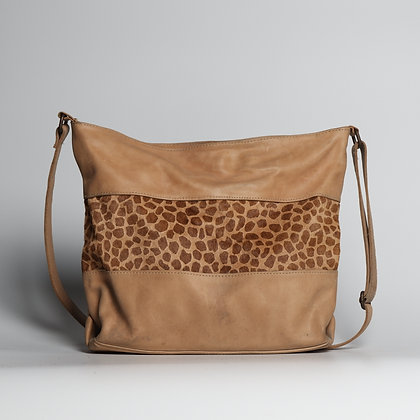 Crossbody Purse Cream Leopard Skin Pattern
