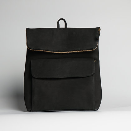 Backpack Black Leather Lining