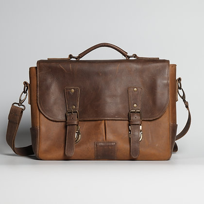 Briefcase Natural Color Two-toned