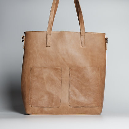 Tote Cream Two Pocket
