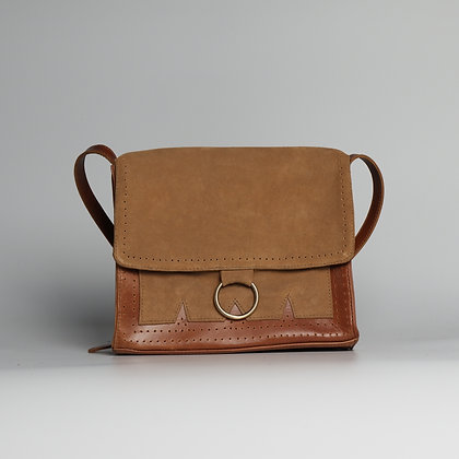 Crossbody Purse Brown Two-Toned