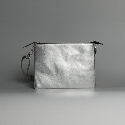 Crossbody Pouch Shiny Silver