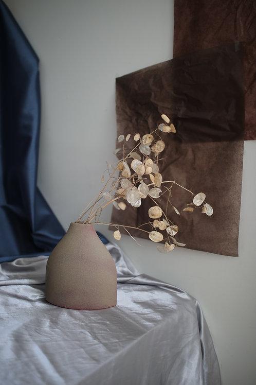 vintage mixed stone vase