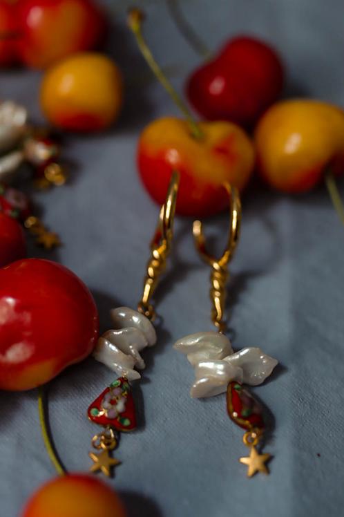 Aphrodite RED - earrings