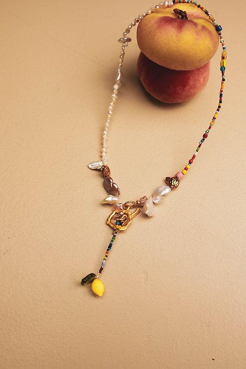 Backwards choker Necklace