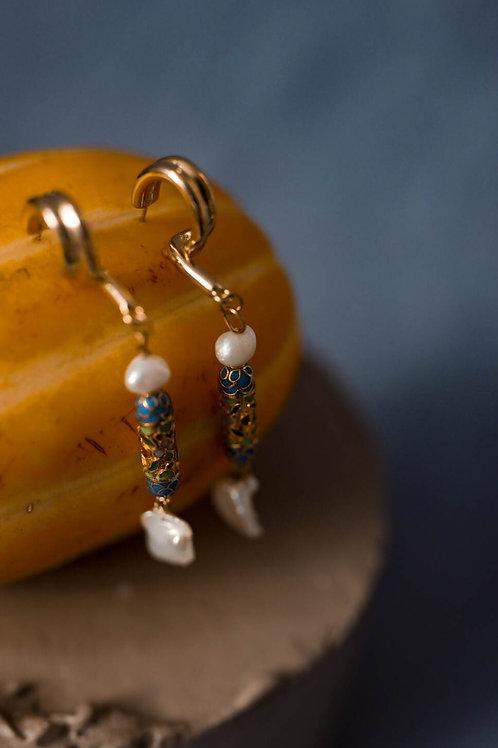 Salacia BLUE - earrings