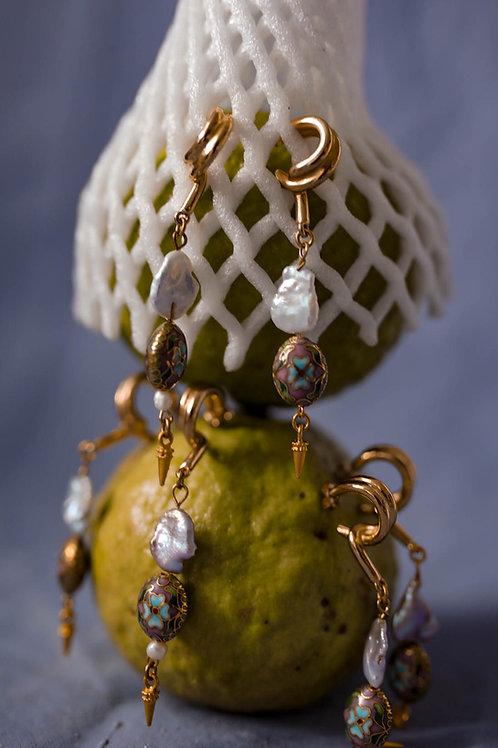 IRIS - PURPLE - earrings