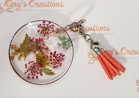 Pink trim key ring