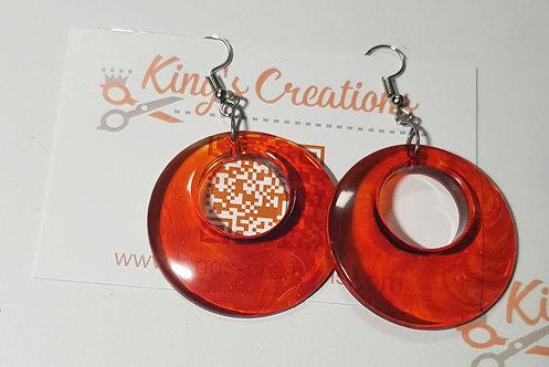 Amber coloured earrings
