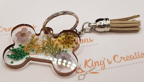 Bone shaped key ring