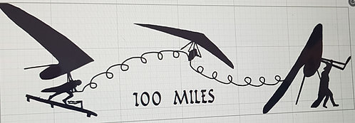 Hang gliding t-shirt Flex wing 100 miles flight