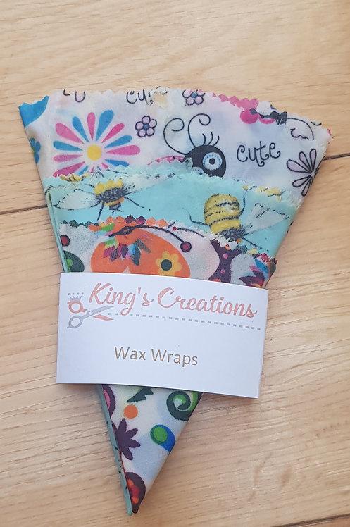 Circular wax wraps