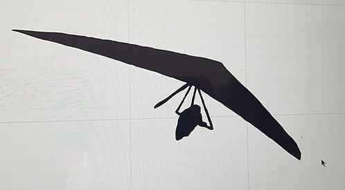 Hang gliding t-shirt Flex wing in flight