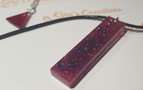 Red and blue sparkle pendant