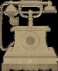 Téléphone Fashioned Vieux