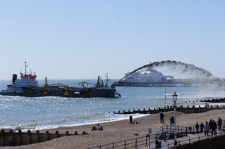The 'dredger' visits Eastbourne