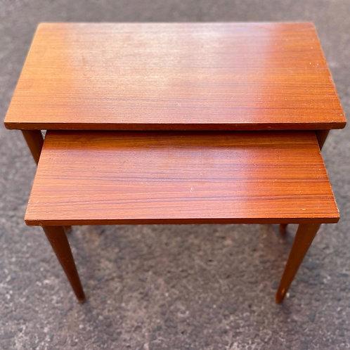 2-Piece Retro Mid-Century Coffee Nest of Tables