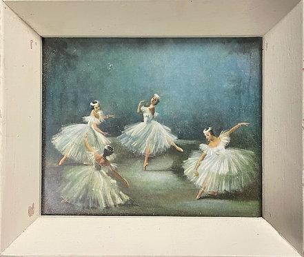 Pretty Vintage Print of Ballerinas Painting