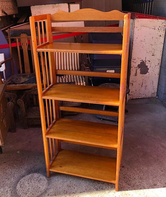 Outstanding Vintage Folding Bookshelf