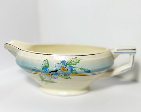 W H Grindley Sauce Boat China with Sailboat Ship Mark from C.1936-54 (England)