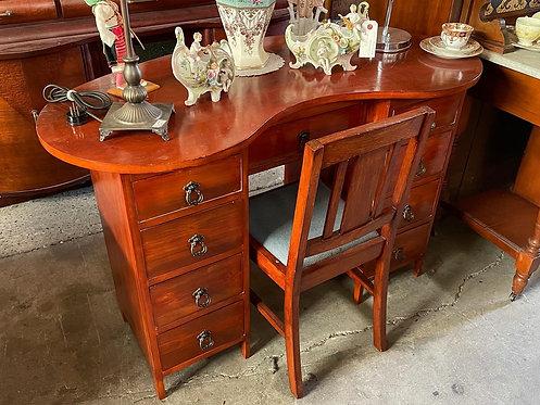 Antique Kidney Shape Office Desk