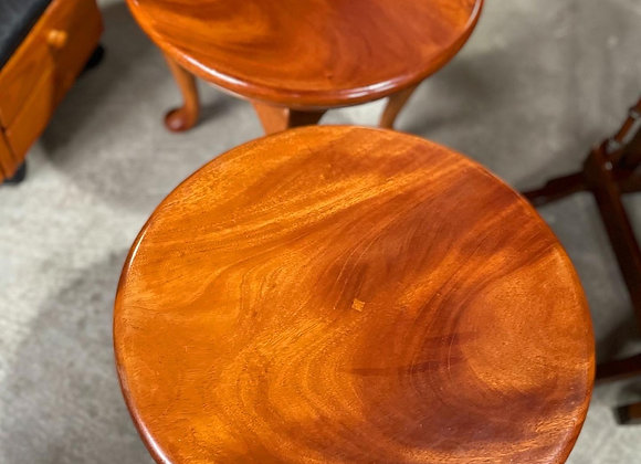 A Pair of Elegant Hand-Made Low Queen Anne Coffee Tables