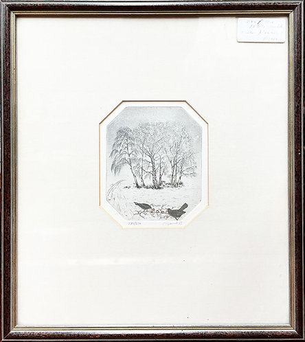 Original Vintage Graphic Artwork from 1983 with Signature (Scotland)