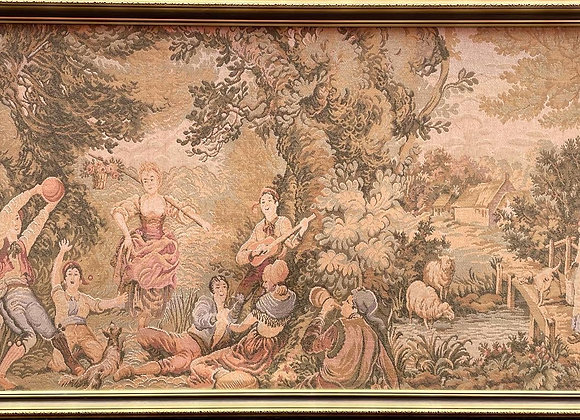 Gorgeous Large Size Original Aubusson Artwork in Perfect Condition