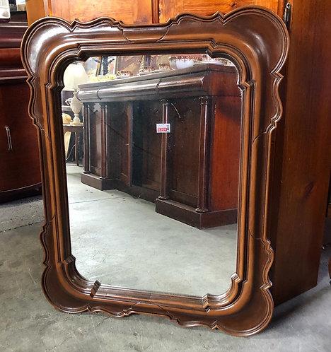 Rectangular Vintage Wooden Wall Mirror