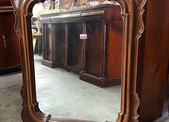 Rectangular Vintage Wooden Wall Mirror