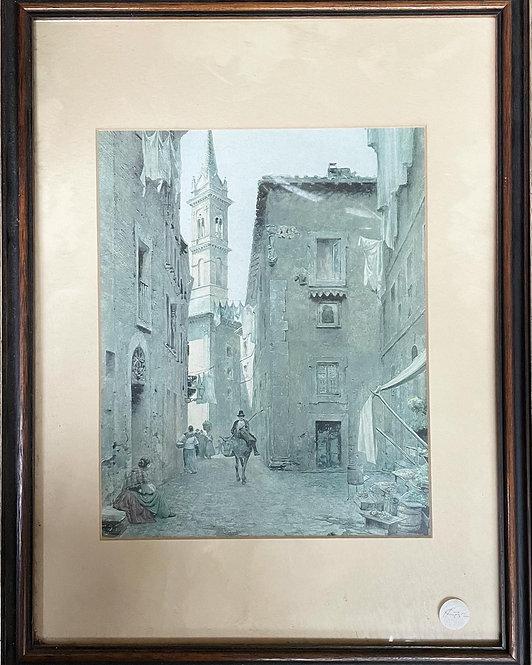 Beautiful Vintage Print by Unknown Artist