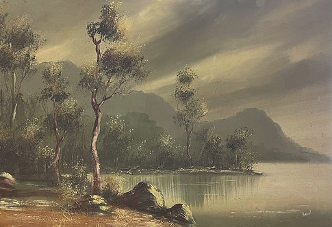Stunning Original Vintage Landscape Artwork Signed by Hamilton