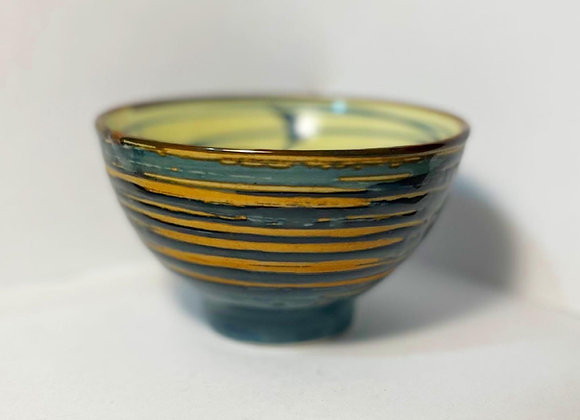 Beautiful Shiny Vintage Ceramic Bowl by Unknown Artist