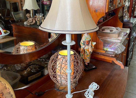 Elegant Vintage Table Lamp with Cream White Colour Shade