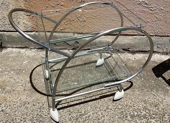 Unique Retro Chrome & Glass Tea Trolley in a Really Good Condition