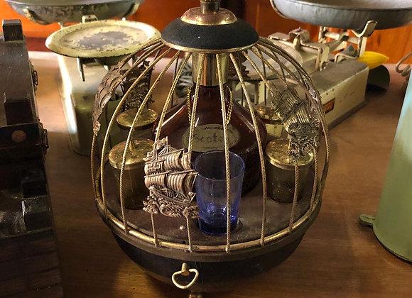 Stunning Vintage Music Whiskey Set of 1 Scotch Bottle & 6 Shot Glasses