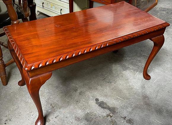 Tudor Style Carved Rectangular Coffee Table