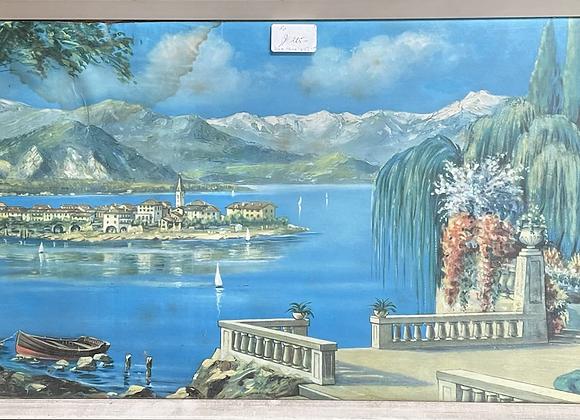 Framed Reproduction Landscape Artwork of Lago Maggiore
