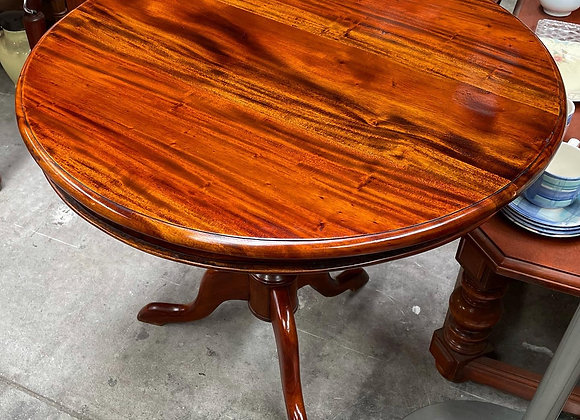 Spectacular Round Victorian Mahogany Wine Table