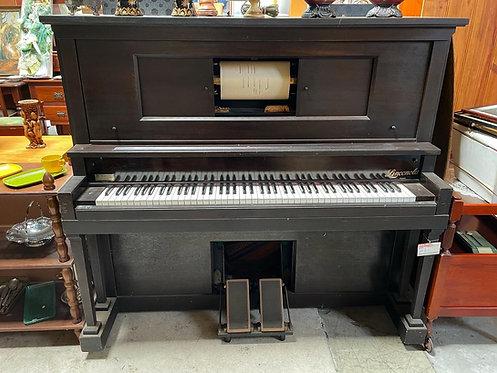 Gorgeous Antique Linconola Pianola manufactured by M. Brash & Co.